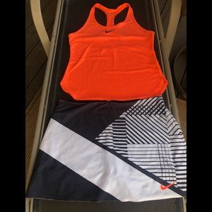 Nike tennis outfit skirt/skort and tank
